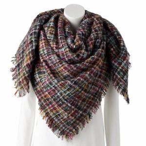 Women's Apt. 9 Micro Plaid Blanket Scarf